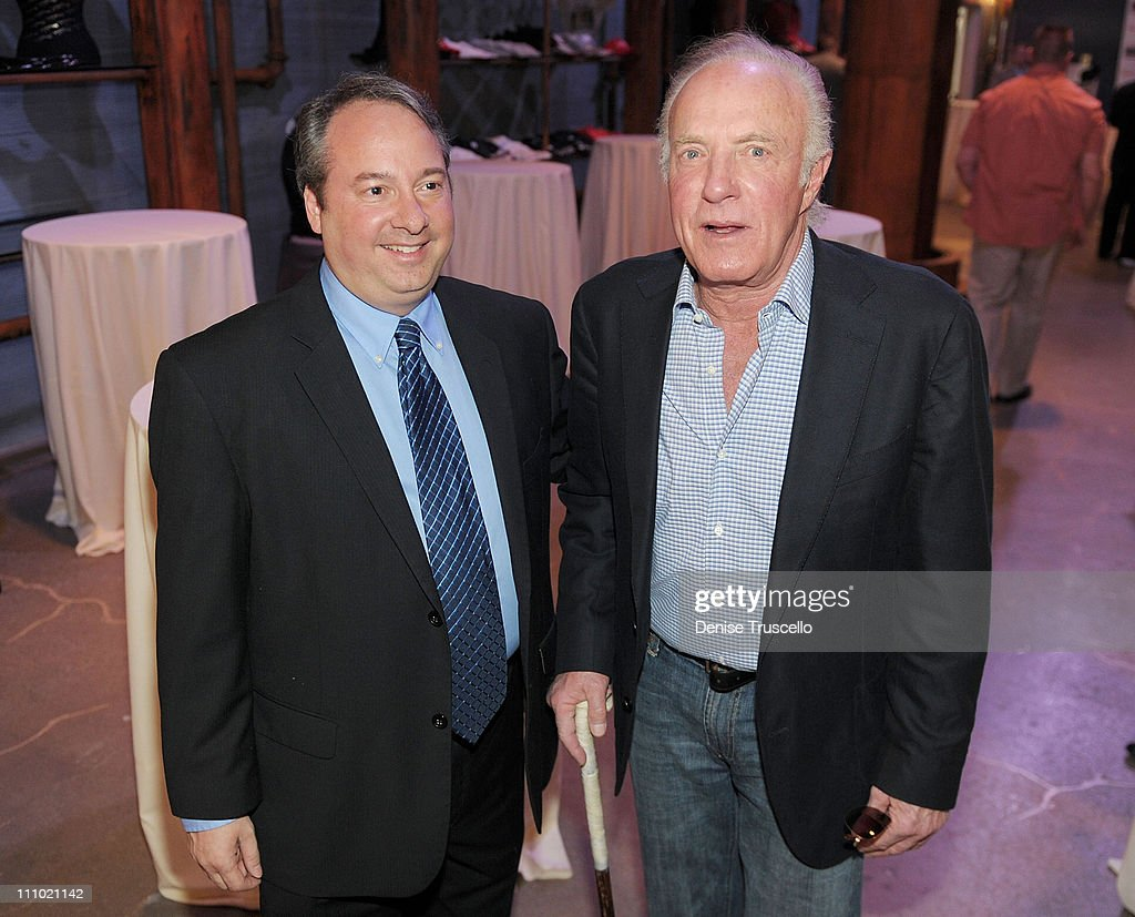 Jay Bollm and actor <a gi-track='captionPersonalityLinkClicked' href=/galleries/search?phrase=James+Caan+-+Actor&family=editorial&specificpeople=206773 ng-click='$event.stopPropagation()'>James Caan</a> take a tour of the Las Vegas Mob Experience at The Tropicana on March 28, 2011 in Las Vegas, Nevada.