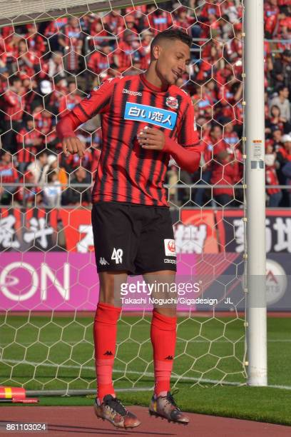 Jay Bothroyd of Consadole Sapporo celebrates scoring his side's third goal during the JLeague J1 match between Consadole Sapporo and Kashiwa Reysol...