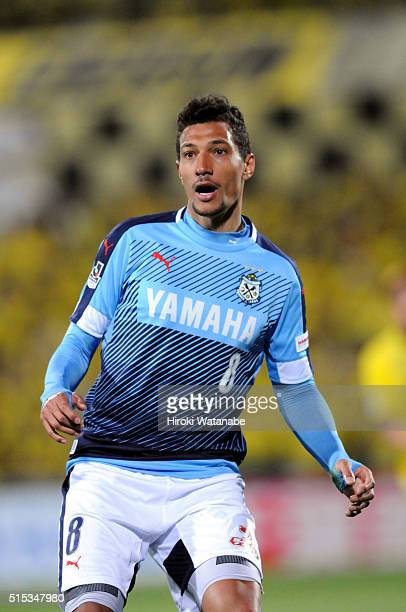 Jay Bothroyd of Jubilo Iwata in action during the JLeague match between Kashiwa Reysol and Jubilo Iwata at the Hitachi Kashiwa Soccer Stadium on...