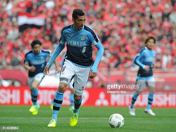 Jay Bothroyd of Jubilo Iwata in action during the JLeague match between Urawa Red Diamonds and Jubilo Iwata at Saitama Stadium on March 6 2016 in...