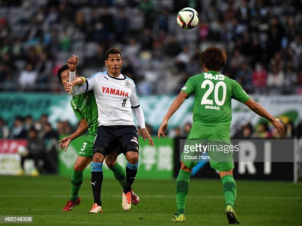 Jay Bothroyd of Jubilo Iwata in action during the JLeague second division match between Tokyo Verdy and Jubilo Iwata at Ajimonoto Stadium on November...