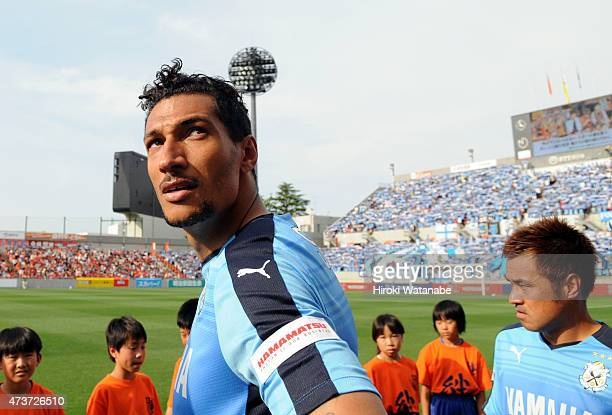 Jay Bothroyd of Jubilo Iwata is seen prior to the JLeague second division match between Omiya Ardija and Jubilo Iwata at Nack 5 Stadium Omiya on May...