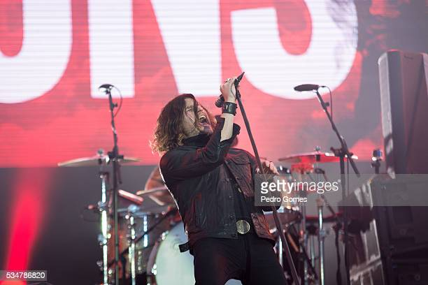 Jay Buchanan of Rival Sons performing on Mundo stage at Rock in Rio on May 27 2016 in Lisbon Portugal