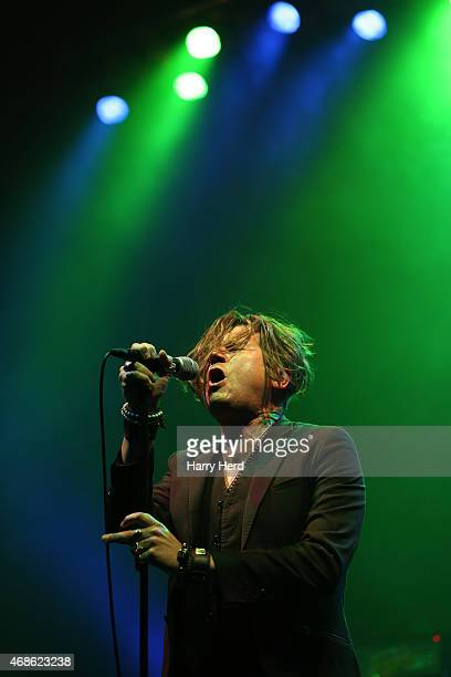 Jay Buchanan of Rival Sons performs at Southampton Guildhall on April 4 2015 in Southampton England
