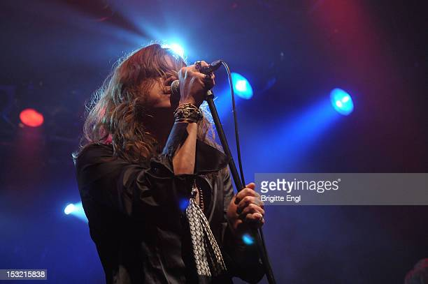 Jay Buchanan of Rival Sons performs on stage at Electric Ballroom on October 1 2012 in London United Kingdom