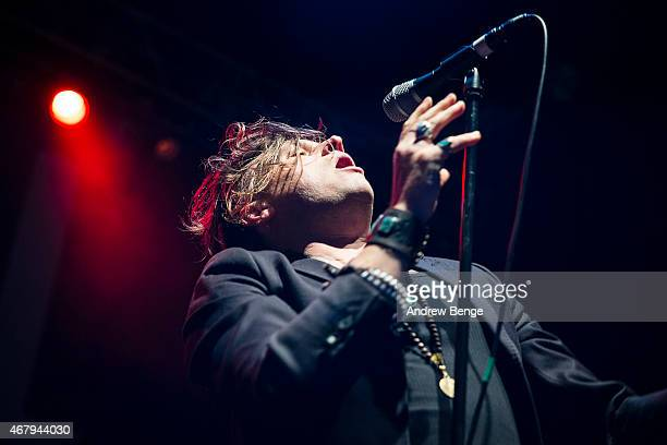 Jay Buchanan of Rival Sons performs on stage at O2 Academy Leeds on March 28 2015 in Leeds United Kingdom