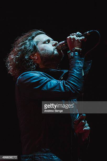 Jay Buchanan of Rival Sons performs on stage at The O2 Arena on December 3 2015 in London England
