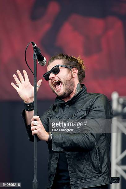 Jay Buchanan of Rival Sons performs onstage on Day 2 of Download Festival 2016 at Donnington Park on June 11 2016 in Donnington England