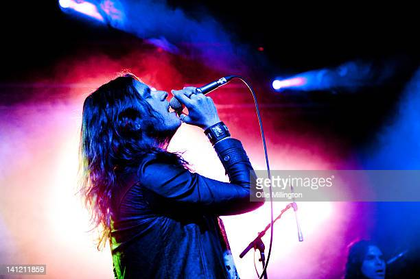 Jay Buchanan of Rival Sons performs supporting Black Stone Cherry during a date of their sell out UK tour at Rock City on March 12 2012 in Nottingham...