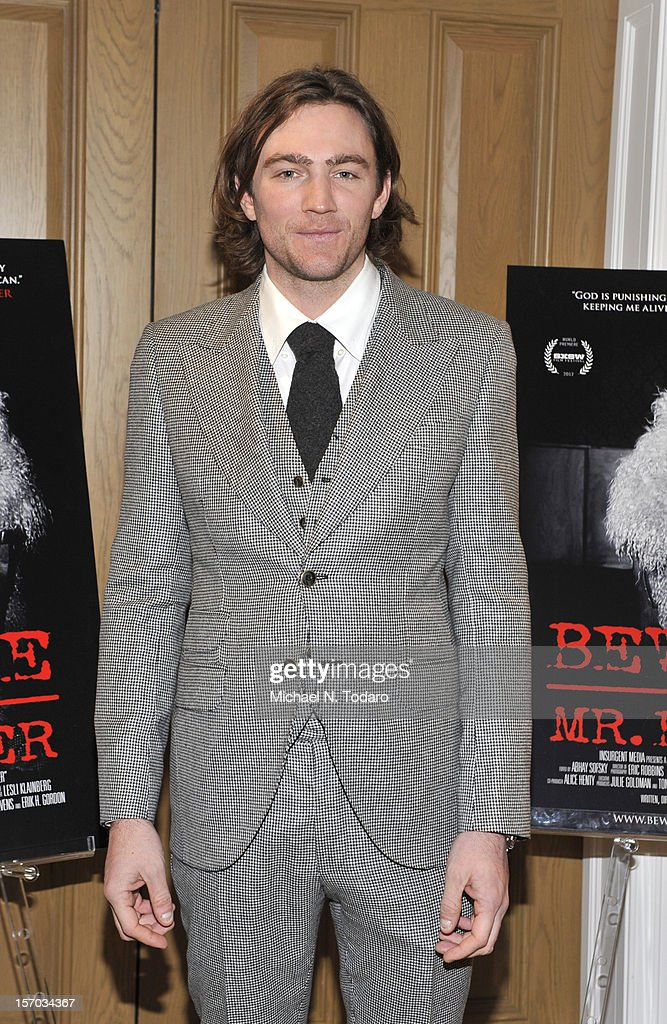 Jay Bulger attends the 'Beware of Mr. Baker' screening at the Crosby Street Hotel on November 27, 2012 in New York City.