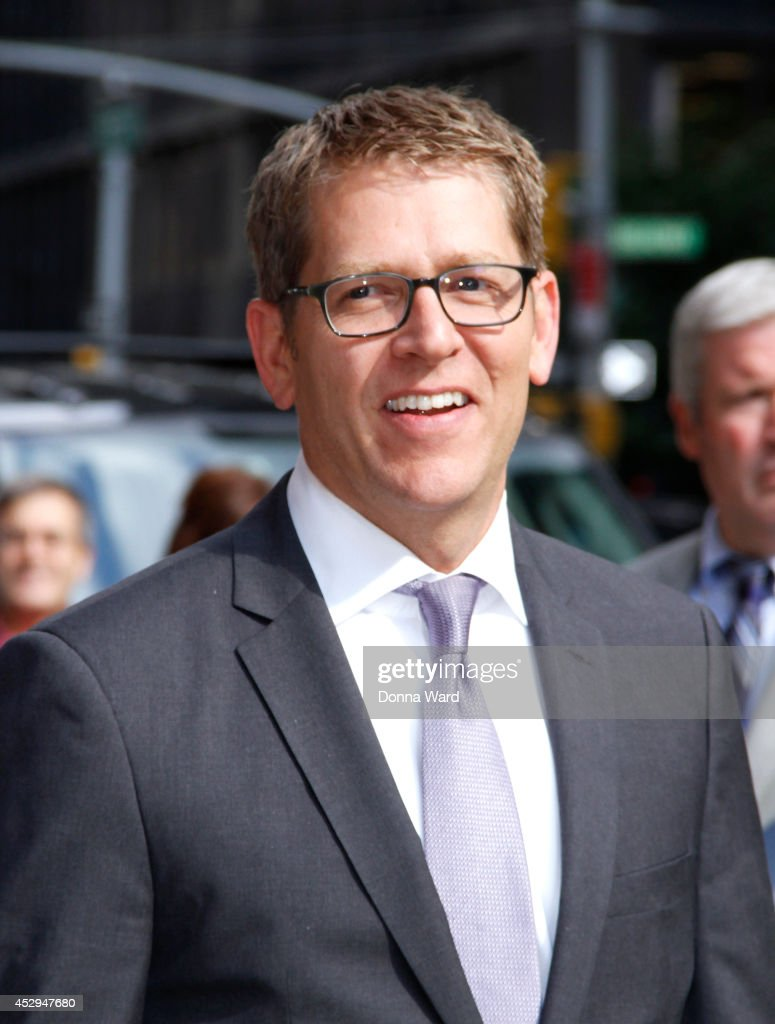 Jay Carney leaves the 'Late Show with David Letterman' at Ed Sullivan Theater on July 30, 2014 in New York City.
