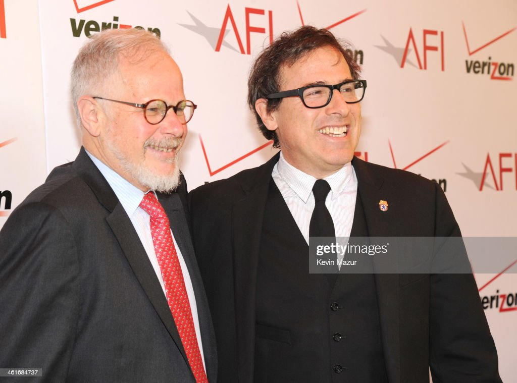Jay Cassidy and David O Russell attends the 14th annual AFI Awards Luncheon at Four Seasons Hotel Beverly Hills on January 10 2014 in Beverly Hills...