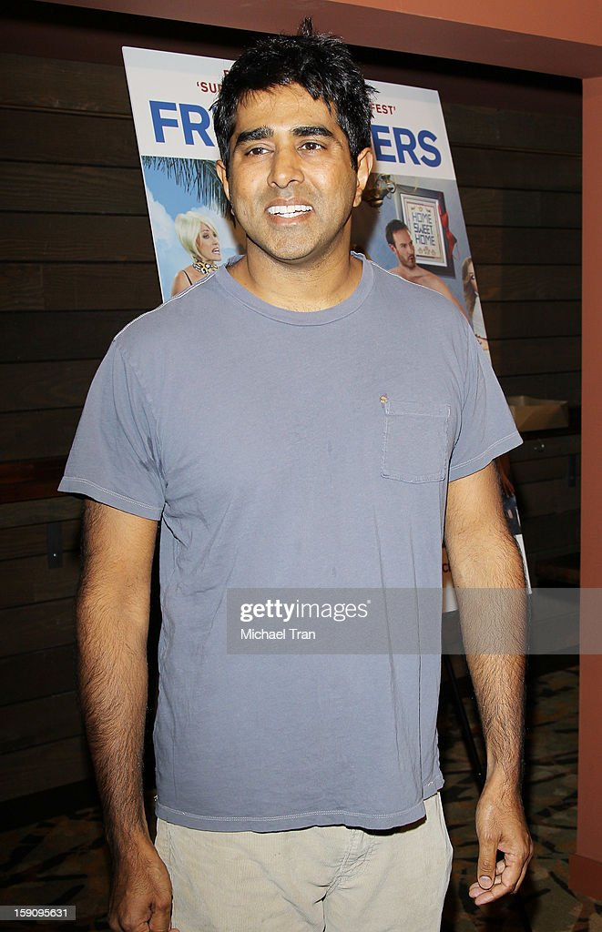 Jay Chandrasekhar arrives at the Los Angeles premiere of 'Freeloaders' held at Sundance Cinemas on January 7, 2013 in Los Angeles, California.