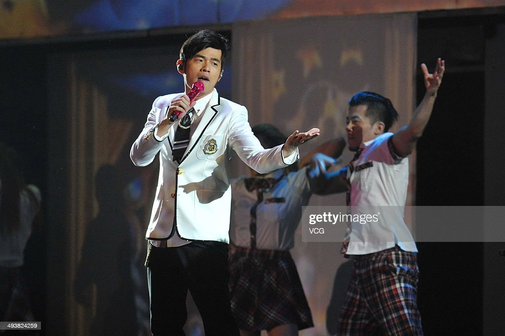 <a gi-track='captionPersonalityLinkClicked' href=/galleries/search?phrase=Jay+Chou&family=editorial&specificpeople=697028 ng-click='$event.stopPropagation()'>Jay Chou</a> performs onstage during a live show on May 24, 2014 in Beijing, China.