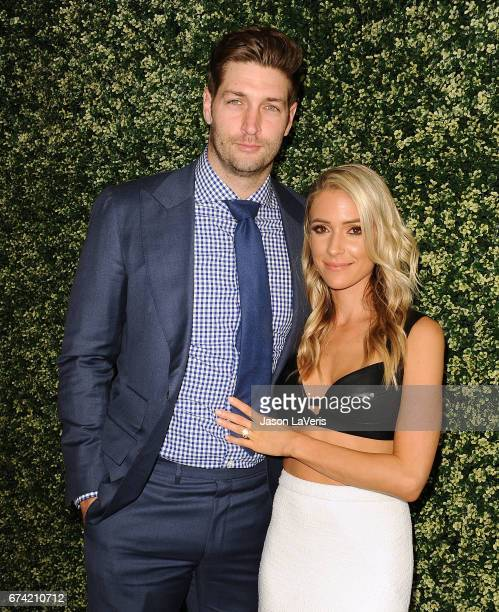 Jay Cutler and Kristin Cavallari attend the launch event for 'Uncommon James' at Fig Olive on April 27 2017 in West Hollywood California