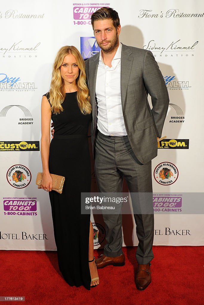 <a gi-track='captionPersonalityLinkClicked' href=/galleries/search?phrase=Jay+Cutler&family=editorial&specificpeople=622249 ng-click='$event.stopPropagation()'>Jay Cutler</a> and Kristin Cavalleri attend the Dancing with the Stars Charity event hosted by Jenny McCarthy on August 24, 2013 at Hotel Baker in St Charles, Illinois.