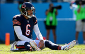 Jay Cutler of the Chicago Bears at Bank of America Stadium on October 5 2014 in Charlotte North Carolina