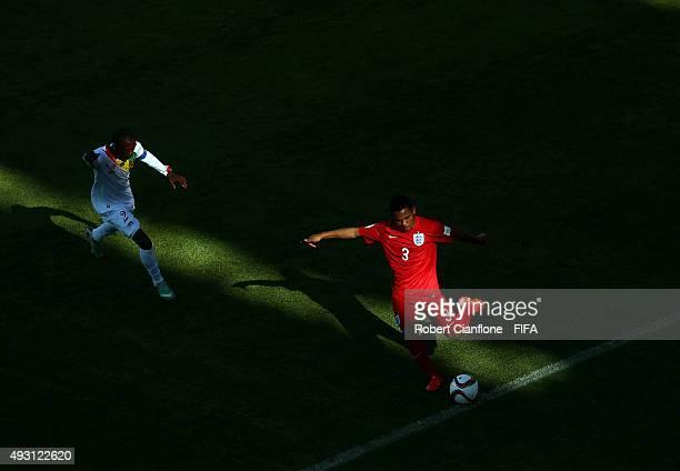 Jay Dasilva of England kicks the ball during the FIFA U17 World Cup Group B match between England and Guinea at Estadio Francisco Sanchez Rumoroso on...