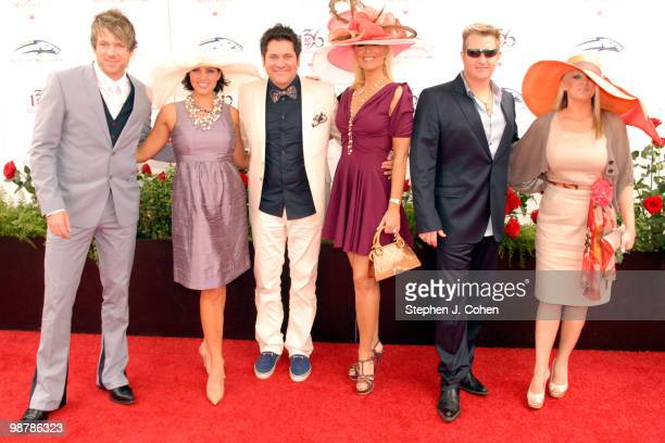 Jay DeMarcus Gary LeVox and Joe Don Rooney of Rascal Flatts attends the 136th Kentucky Derby on May 1 2010 in Louisville Kentucky