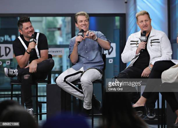 Jay DeMarcus Joe Don Rooney and Gary LeVox attend as Build presents Rascal Flatts promoting their new album at Build Studio on May 22 2017 in New...