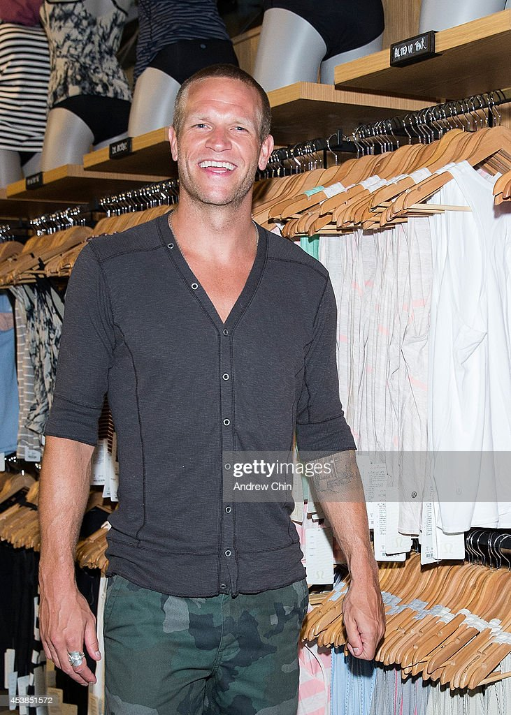 Jay DeMerrit attends the Lululemon Athletica flagship store opening party at 970 Robson Street on August 19, 2014 in Vancouver, Canada.
