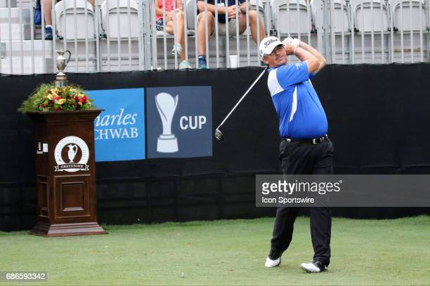 Jay Don Blake tees off during the final round of the 2017 PGA Champions Tour Regions Tradition on May 21 2017 at Greystone Golf and Country Club in...