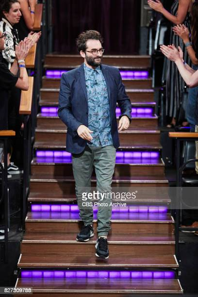 Jay Duplass greets the audience during 'The Late Late Show with James Corden' Tuesday July 25 2017 On The CBS Television Network