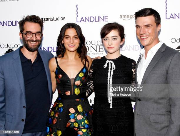 Jay Duplass Jenny Slate Abby Quinn and Finn Wittrock attend the premiere of Amazon Studios 'Landline' at ArcLight Hollywood on July 12 2017 in...