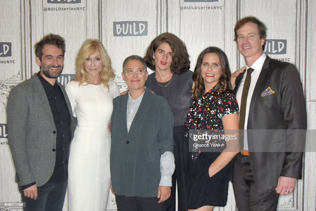 Jay Duplass, Judith Light, Jill Soloway, Gaby Hoffmann, Amy Landecker and Rob Huebel attend Build series to discuss 'Transparent' at Build Studio on September 13, 2017 in New York City.