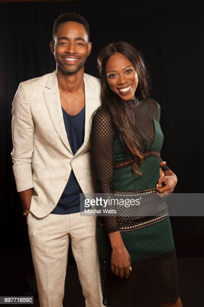 Jay Ellis and Yvonne Orjii Pose for a Portrait on Day 3 of the American Black Film Festival on June 14 2017 in Miami Florida