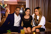 Jay Ellis West Coast Marketing Manager for Hennessy ThuyAnh J Nguyen and Lauren London attend Maurice Hennessy's Private Tasting and Dinner at Sunset...
