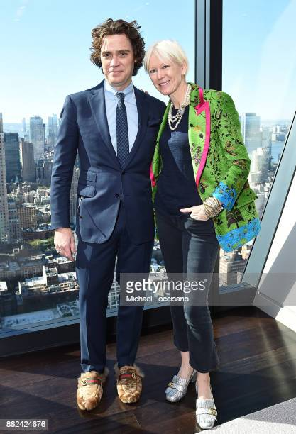 Jay Fielden and Chief Content Officer Hearst Magazine Joanna Coles speaks onstage at Unbound Access MagFront at Hearst Tower on October 17 2017 in...