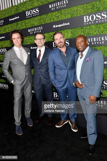 Jay Fielden Christian Slater Jack Essig and John Singleton attend Esquire Celebrates September Issue's 'Mavericks of Style' Presented by Hugo Boss at...
