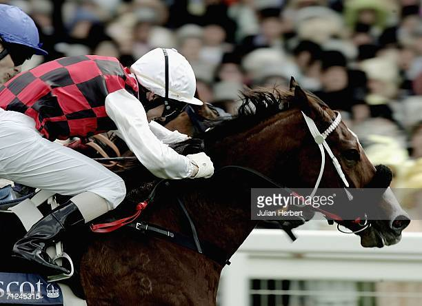 ASCOT ENGLAND JUNE 20 Jay Ford and Takeover Target land The King's Stand Stakes Race run at Ascot Racecourse on June 20 in Ascot England Today is the...