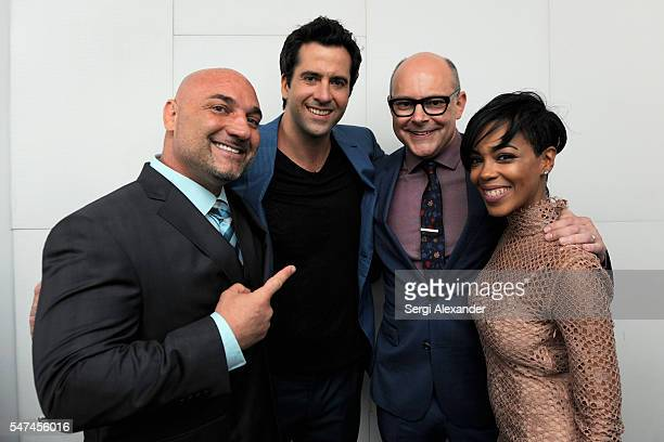 Jay Glazer Troy Garity Rob Corddry and Jazmyn Simon attend the HBO Ballers Season 2 Red Carpet Premiere and Reception on July 14 2016 at New World...