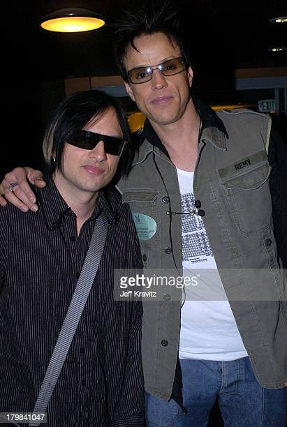 Jay Gordon and Amir Derakh of Orgy during The 46th Annual Grammy Awards Westwood One Backstage at the Grammys Day 1 at Staples Center in Los Angeles...