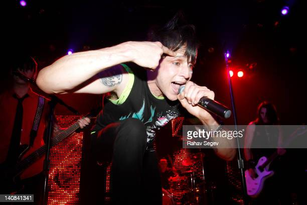 Jay Gordon lead vocalist of Orgy performs at Irving Plaza on March 6 2012 in New York City