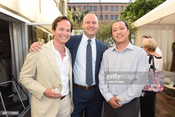 Jay Granzow Director of Lymphology at BSN Medical Eric Johnson and Joey Connard attend Academy Award Winner and LERN Spokesperson Kathy Bates Hosts...