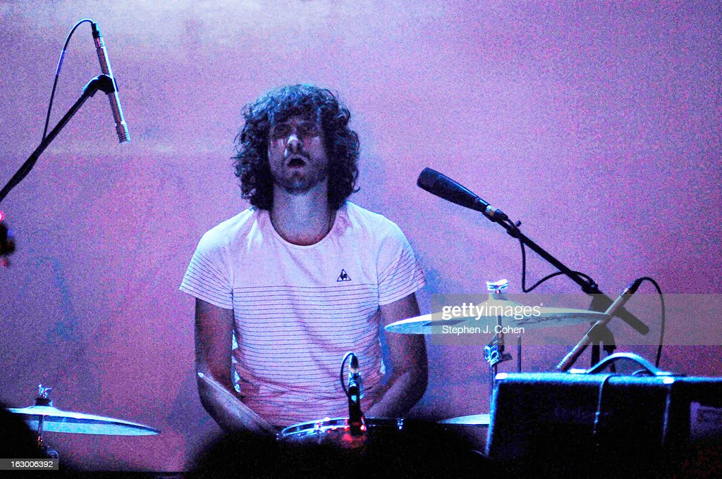 Jay 'Gumby' Watson of Tame Impala performs at Headliners Music Hall on March 2, 2013 in Louisville, Kentucky.