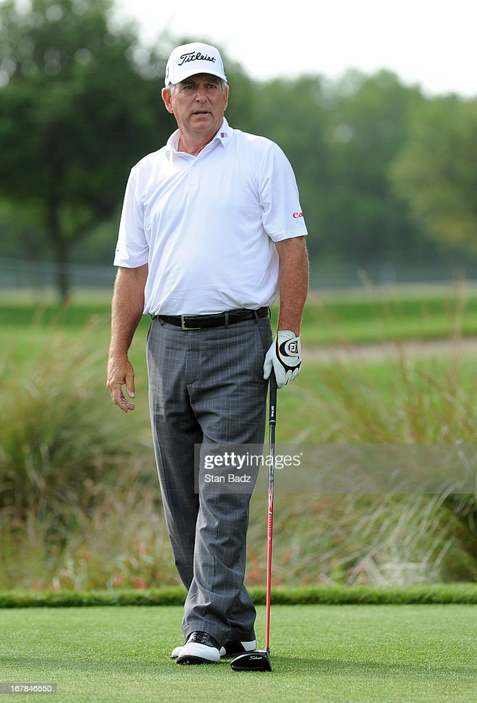Jay Haas hits a drive on the second hole during the final round of the Legends Division at the Liberty Mutual Insurance Legends of Golf at The Westin...