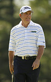 Jay Haas walks on the 10th hole during the final round of the 69th Senior PGA Championship at Oak Hill Country Club East Course on May 25 2008 in...