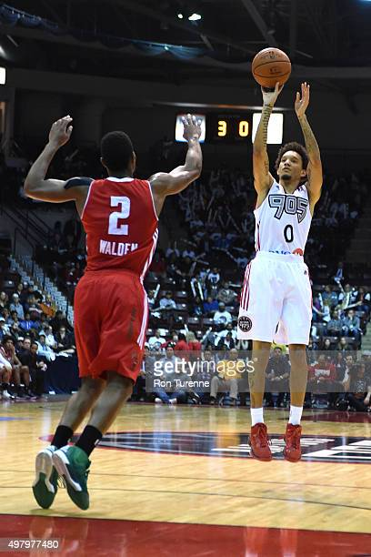 Jay Harris of the Raptors 905 shoots against the Maine Red Claws on November 19 2015 at the Hershey Centre in Mississauga Ontario Canada NOTE TO USER...