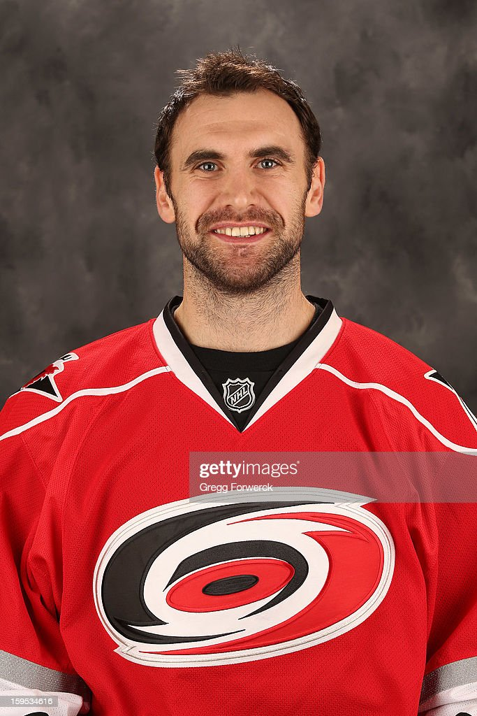 Jay Harrison #44 of the Carolina Hurricanes poses for his official headshot for the 2012-2013 season on January 13,2013 in Raleigh, North Carolina.