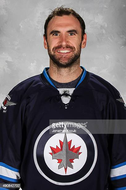 Jay Harrison of the Winnipeg Jets poses for his official headshot for the 20152016 season on September 17 2015 at the MTS Centre in Winnipeg Manitoba...