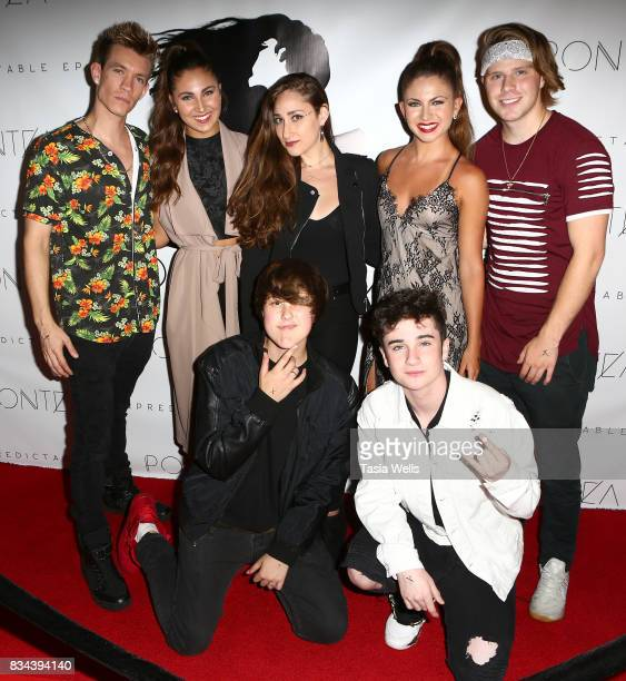 Jay James the Wilking Sisters Raegan Beast JJ Hannon and Hunter Hill at the Pontea EP Release Party at The Federal on August 17 2017 in North...