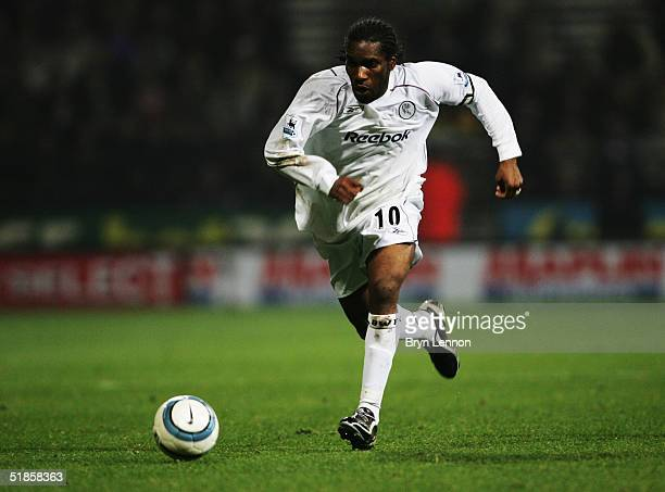 Jay Jay Okocha during the Barclays Premiership match between Bolton Wanderers and Newcastle United at the Reebok stadium on October 31 2004 in Bolton...
