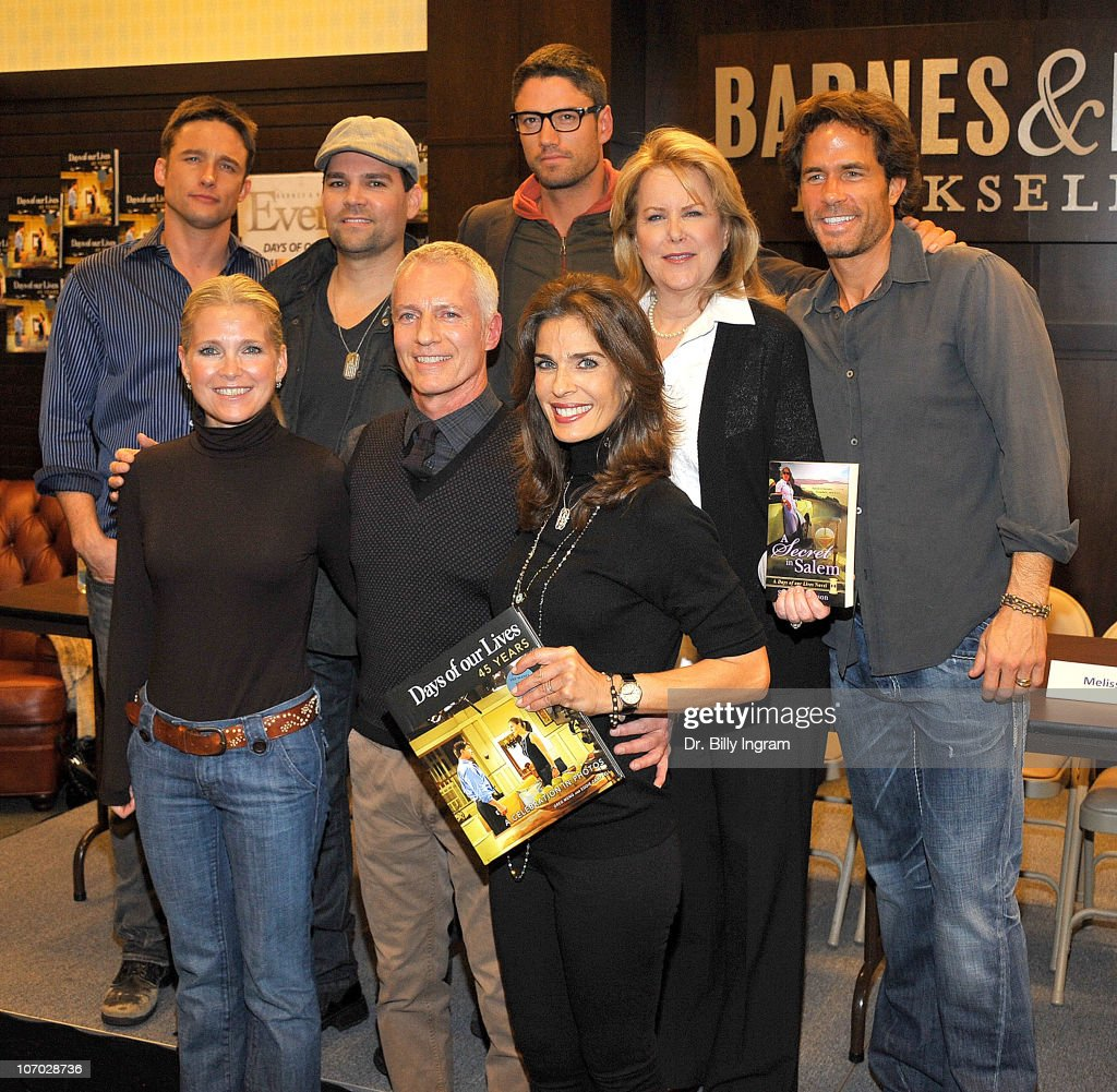 Jay Johnson Eddie Campbell James Scott Sheri Anderson Shawn Christian Melissa Reeves Greg Meng and Kristian Alfonso attend 'Days Of Our Lives 45...