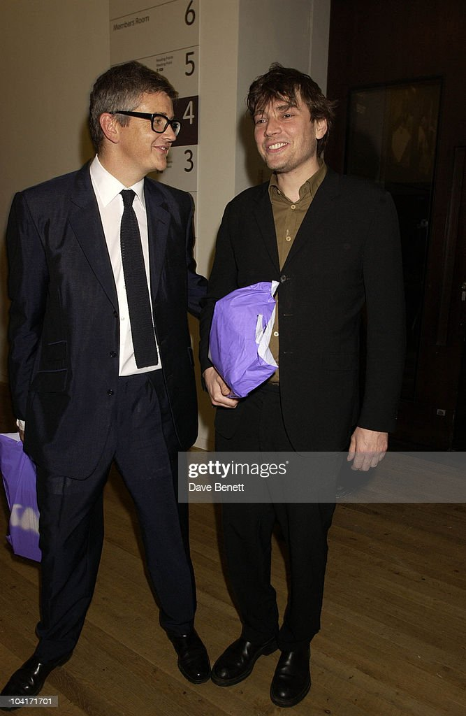 Jay Joplin And Alex James From Blur, The Andy Warhol Exhibition At The Tate Modern Art Gallery, London