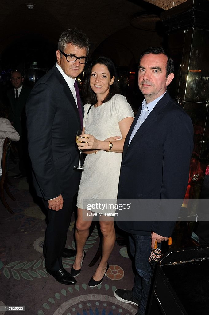 Jay Joplin, Mary McCartney and Simon Aboud attend artist Tracey Emin's 49th Birthday at Annabels Night Club on July 3, 2012 in London, England.