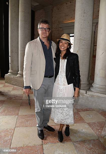 Jay Jopling and Hikari Yokoyama attend a private lunch and preview of 'When Attitudes Become Form Bern 1969/Venice 2013' hosted by Miuccia Prada and...